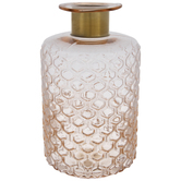 Pink Textured Glass Vase - Large