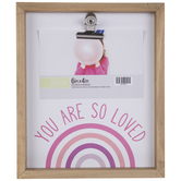 """You Are So Loved Wood Clip Frame - 6"""" x 4"""""""
