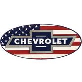 Chevrolet Flag Metal Sign