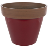 Red Two-Tone Flower Pot