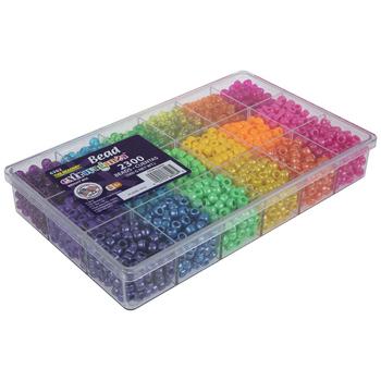 Sparkle Bright Plastic Bead Box