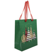 Merry Christmas Patterned Trees Gift Bag