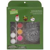 Santa, Snowman & Reindeer Suncatcher Craft Kit