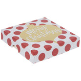 Polka Dots & Gold Ornament Gift Card Holder