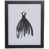 Black Dress Framed Wall Decor
