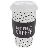 But First Coffee Dotted Paper Cups