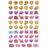 Love Emoji Glitter Stickers