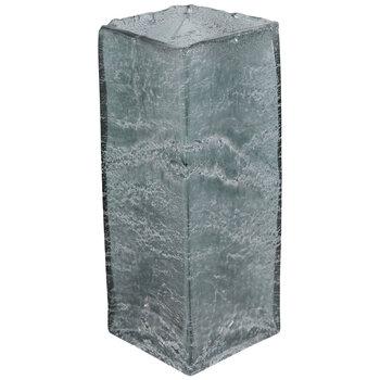 Crackled Gray Square Vase