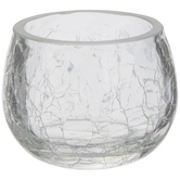 Crackled Glass Candle Holder