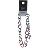 Holographic Rainbow Chain Bracelet