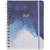 2021 Watercolor Spiral Planner - 12 Months