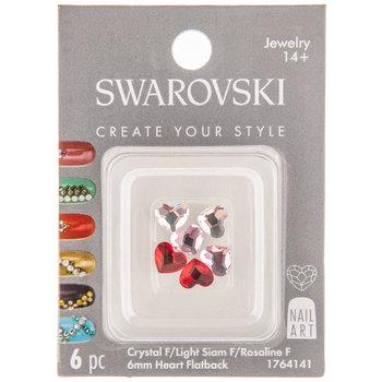 Heart Swarovski Flatback Nail Crystals