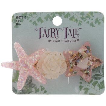 Starfish & Flower Hair Clip