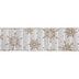 Gold Glitter Snowflake Striped Wired Edge Ribbon - 2 1/2