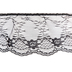 Black Ruffled Lace Trim - 3 1/2