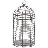 Brown Distressed Metal Birdcage