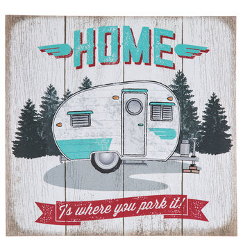 Home Is Where You Park It Wood Wall Decor