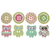Patterned Owl Wood Buttons