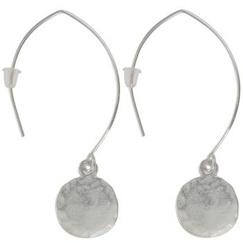 Sterling Silver Plated Disc Angle Earrings