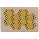 Honeycomb Rubber Stamp