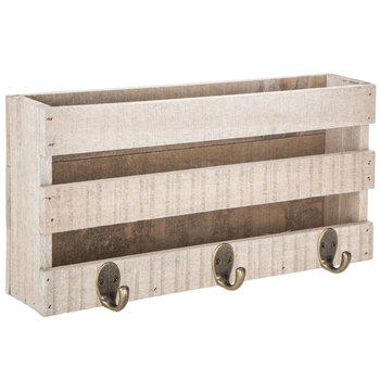 Wood Pallet Wall Decor With Hooks