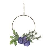 Rose & Hydrangea Hoop Wreath