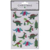 Christmas Dinosaur Puffy Stickers