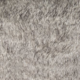 Gray With Black Tips Faux Fur Fabric