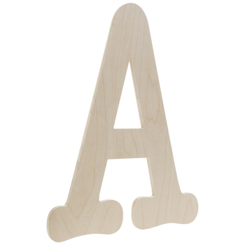 Typewriter Font Wood Letter Wall Decor