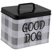 Good Dog Buffalo Check Tin Box