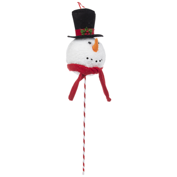Snowman With Top Hat Pick