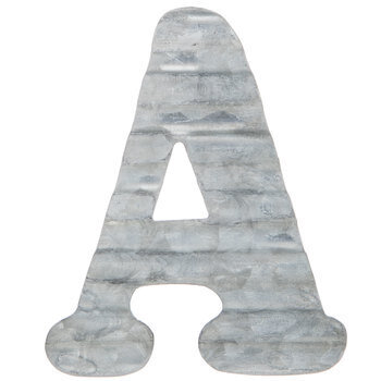 Corrugated Metal Letter Wall Decor - A