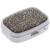 Brown Leopard Print Pill Case