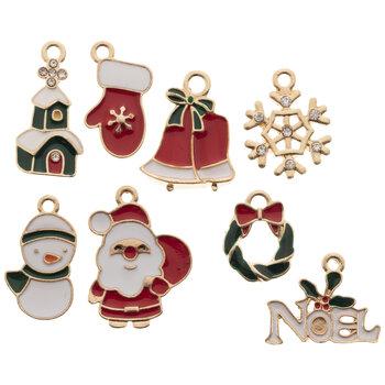 Christmas Icons Enamel Charms