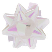 Iridescent White Mini Bows - 1""
