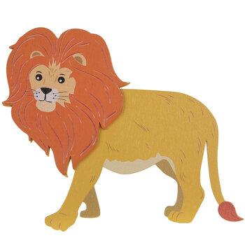 Lion Painted Wood Shape