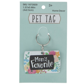 Mom's Favorite Floral Pet Tag