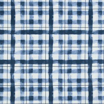 Painterly Plaid Duck Cloth Fabric