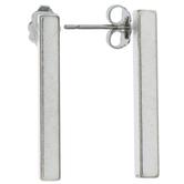 Sterling Silver Plated Bar Earrings