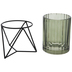 Green Glass Candle Holder - Large