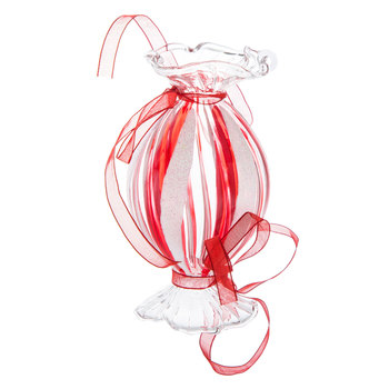 Oval Striped Candy Ornament