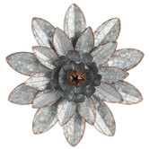 Flower Galvanized Metal Wall Decor