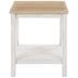 White Farmhouse Wood Side Table