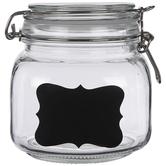 Glass Mason Jars With Chalkboard Labels