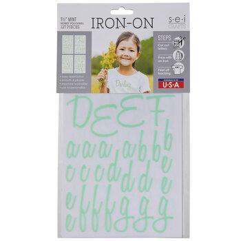 Mint Vinyl Letter Iron-On Applique Alphabet