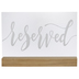 Reserved Wood Decor