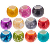 Spotted Acrylic Round Bead Mix