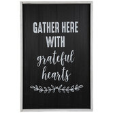 Gather With Grateful Hearts Wood Wall Decor
