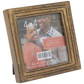 "Antique Gold Square Frame - 4"" x 4"""