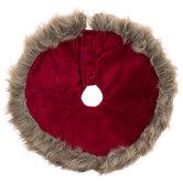Mini Red Velvet Faux Fur Tree Skirt